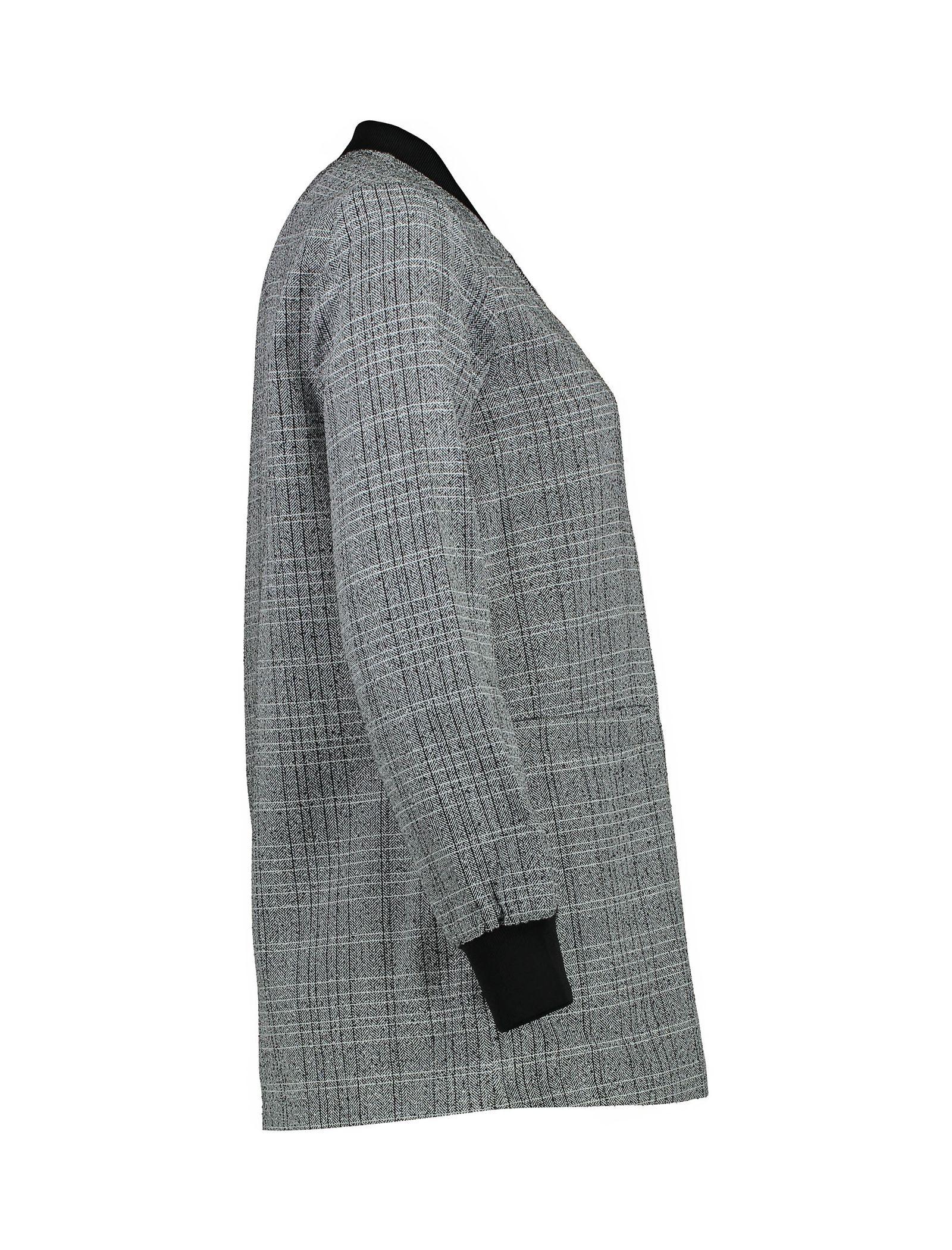 کت ویسکوز بلند زنانه - کوتون - طوسي - 4