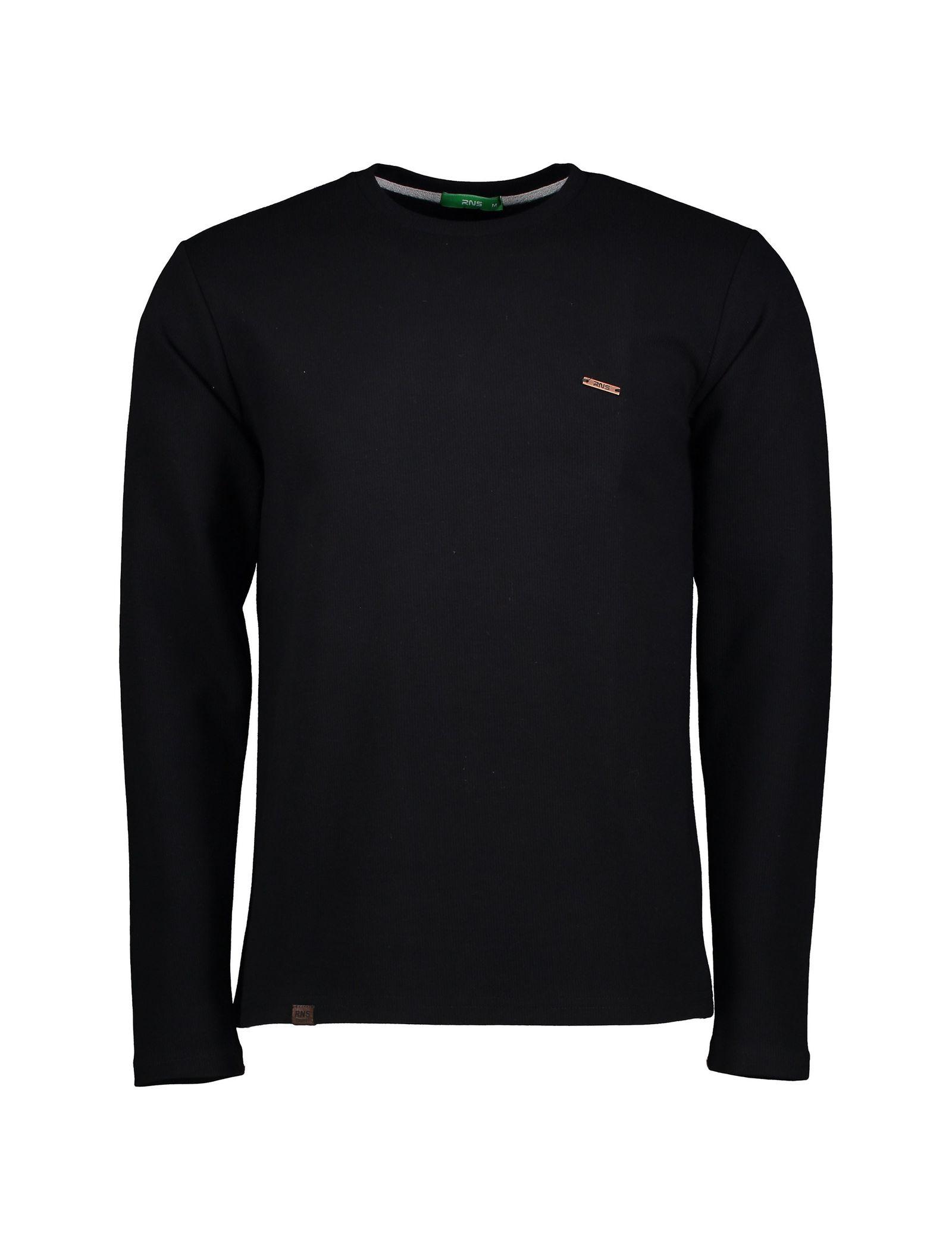 تی شرت نخی آستین بلند مردانه - آر اِن اِس - مشکي - 1