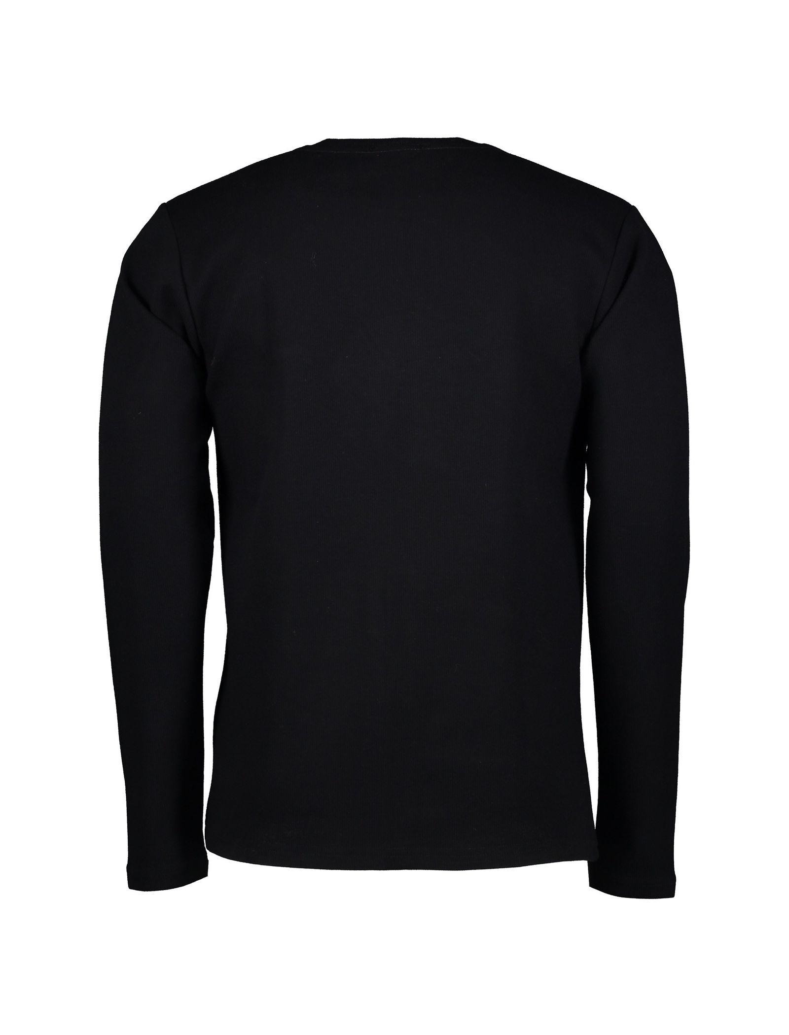 تی شرت نخی آستین بلند مردانه - آر اِن اِس - مشکي - 2