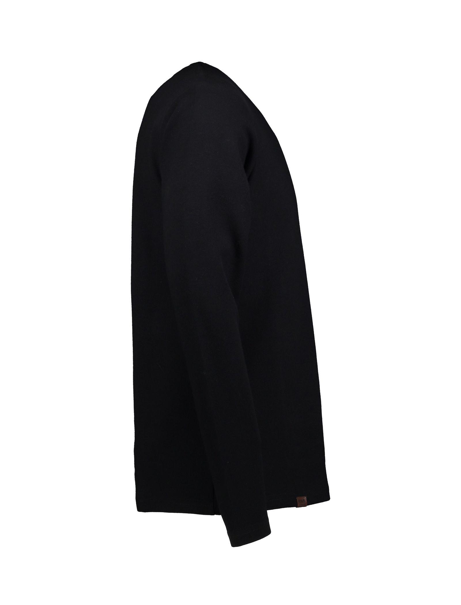 تی شرت نخی آستین بلند مردانه - آر اِن اِس - مشکي - 4