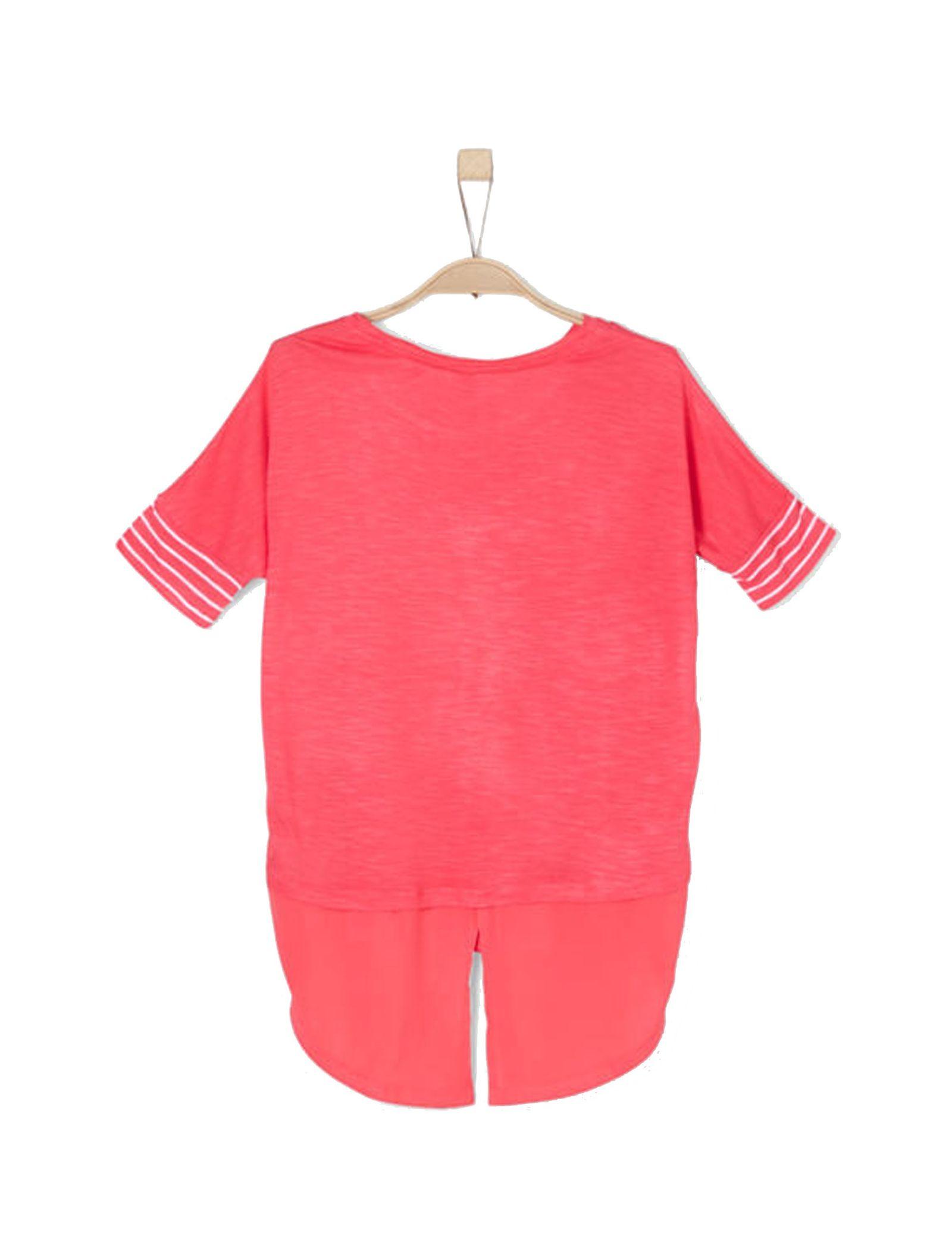 تی شرت ویسکوز یقه گرد دخترانه - اس.اولیور - صورتي - 2