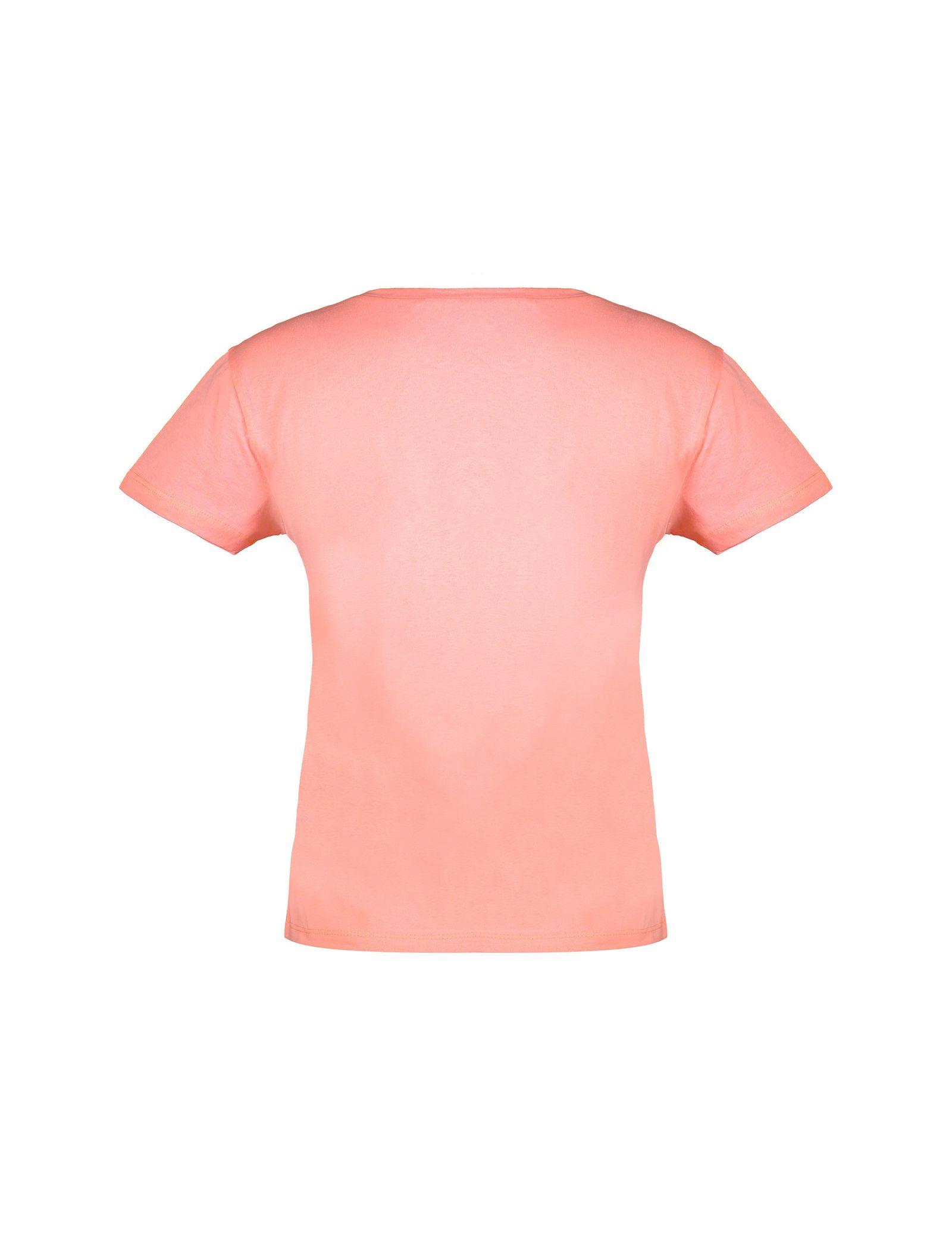 تی شرت نخی یقه گرد زنانه - کوتون - صورتي روشن - 2