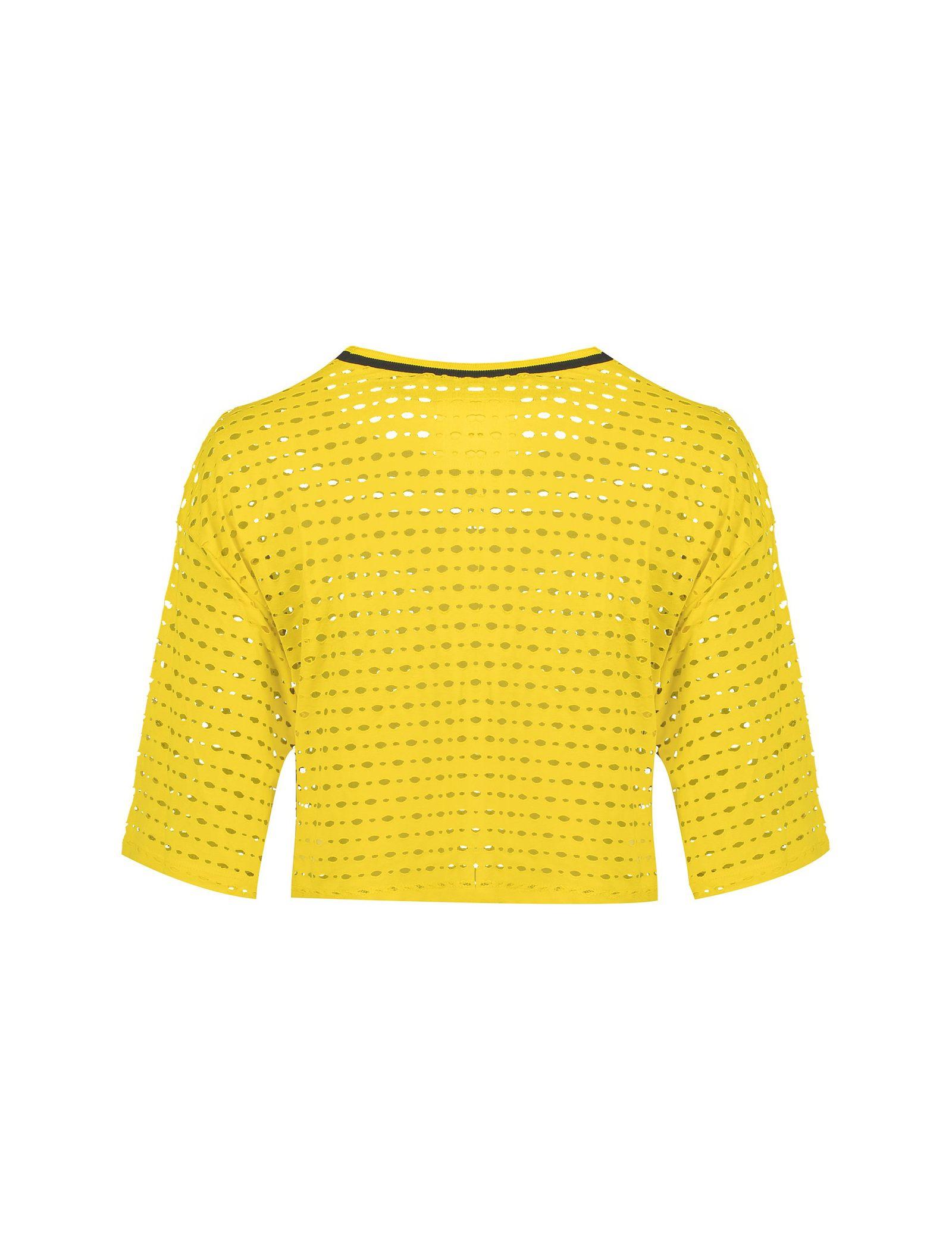 تی شرت ویسکوز یقه گرد زنانه - کوتون - زرد - 2