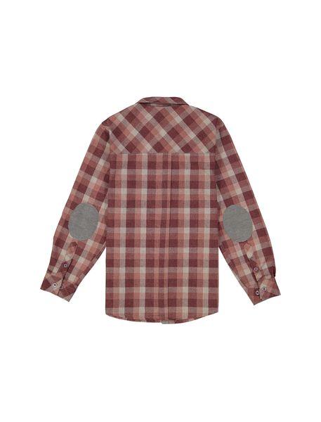 پیراهن نخی آستین بلند پسرانه - قرمز - 2
