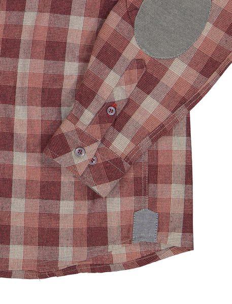 پیراهن نخی آستین بلند پسرانه - قرمز - 3
