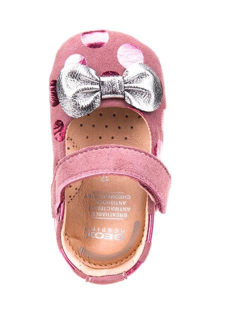 کفش چسبی نوزادی دخترانه B New Ian Girl - بنفش - 2