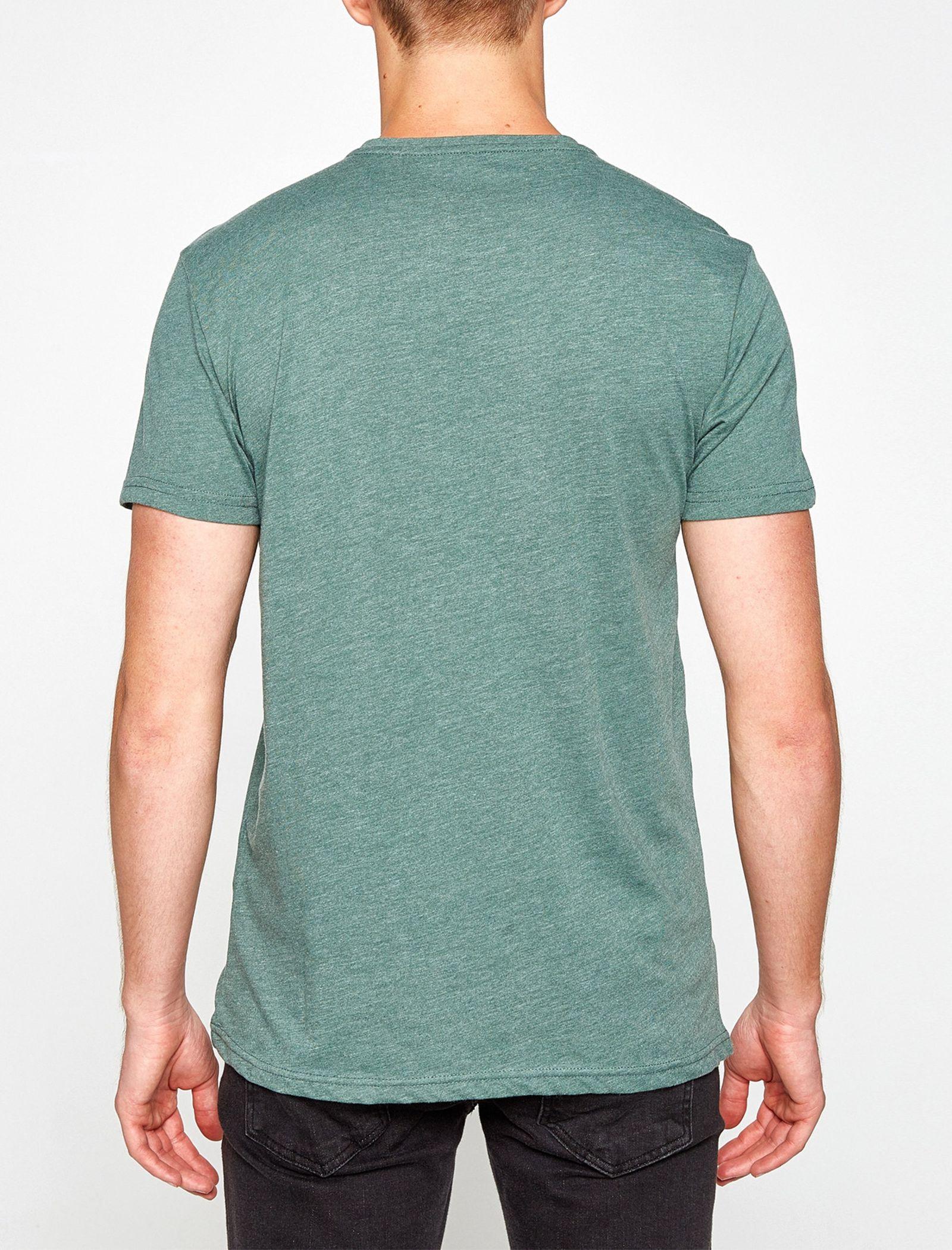 تی شرت یقه گرد مردانه - کوتون - سبز آبي - 2