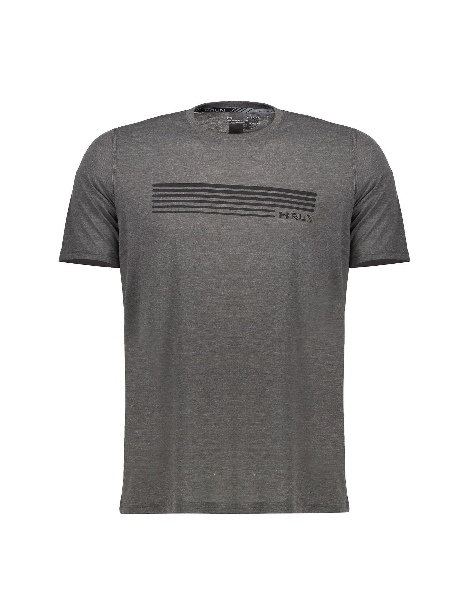 تی شرت ورزشی یقه گرد مردانه - آندر آرمور - طوسي تيره - 1