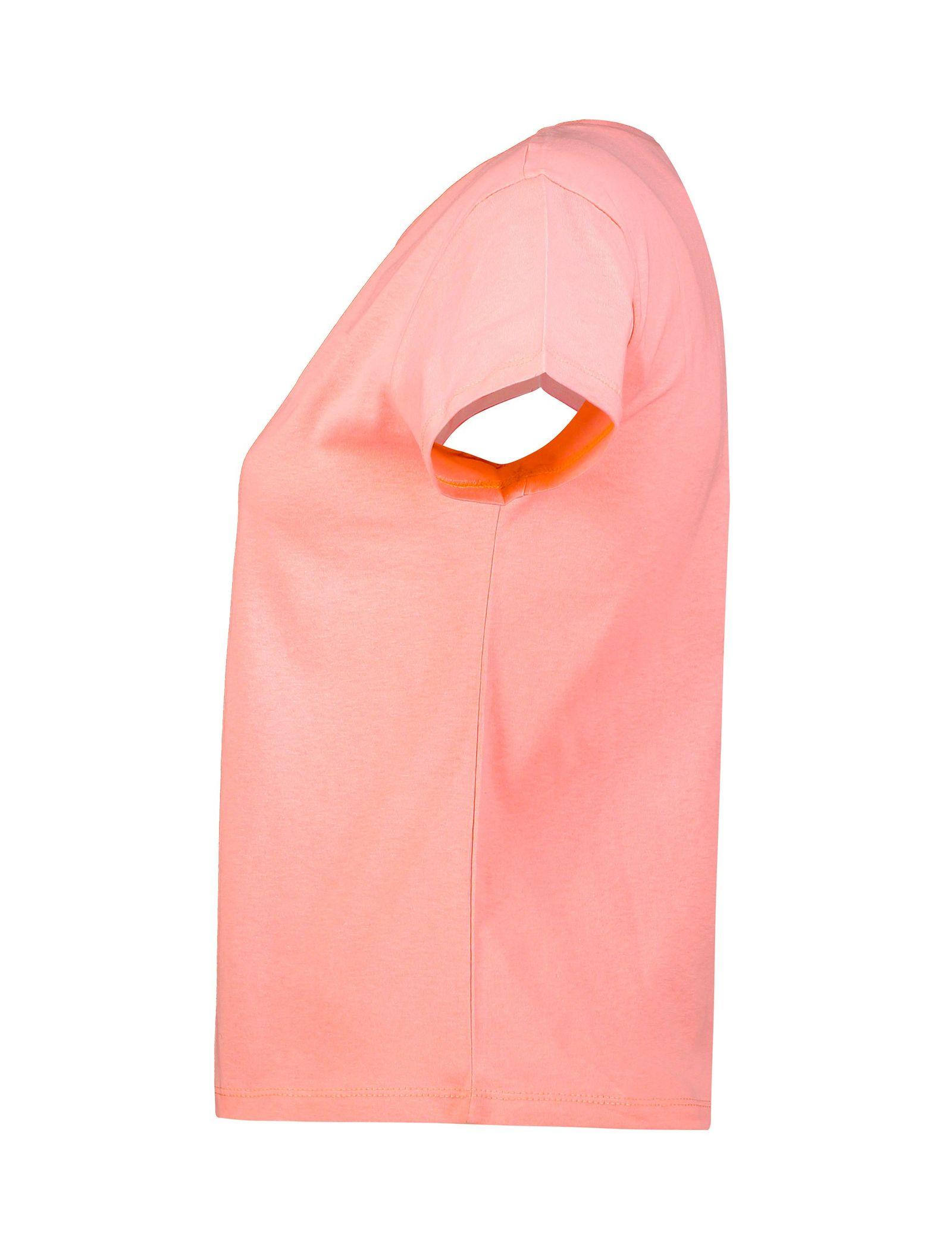 تی شرت نخی یقه گرد زنانه - کوتون - صورتي روشن - 3