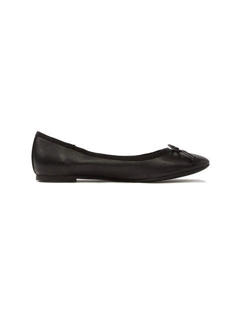 کفش تخت عروسکی چرم زنانه - آلدو - مشکي - 1