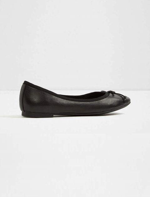 کفش تخت عروسکی چرم زنانه - آلدو - مشکي - 3