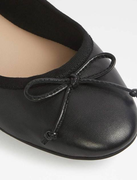 کفش تخت عروسکی چرم زنانه - آلدو - مشکي - 4