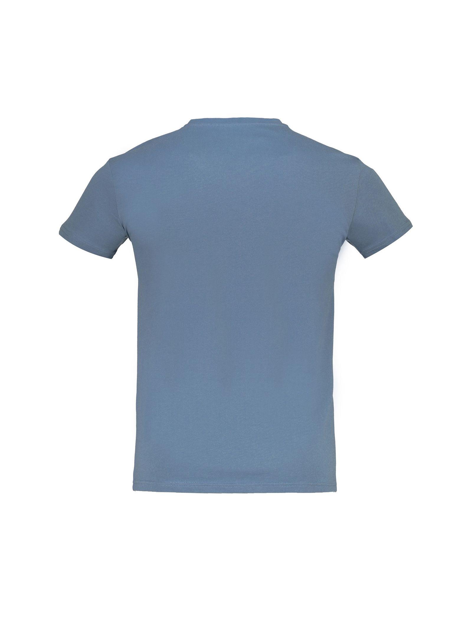 تی شرت نخی یقه هفت مردانه - کوتون - آبي - 2