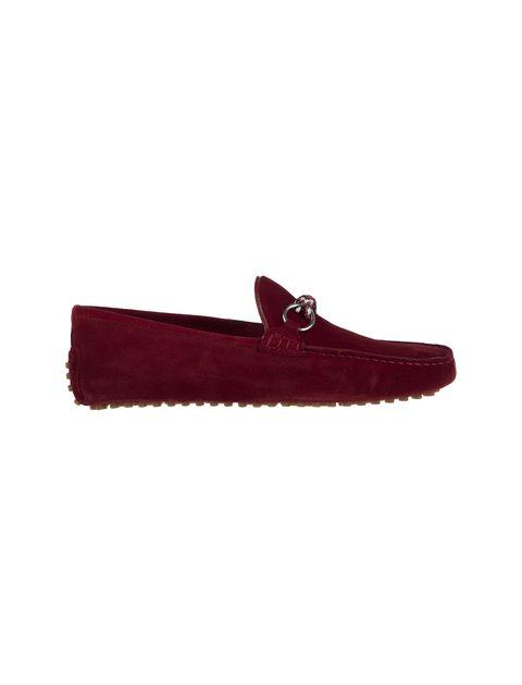 کفش چرم راحتی یکسره مردانه - قرمز - 1