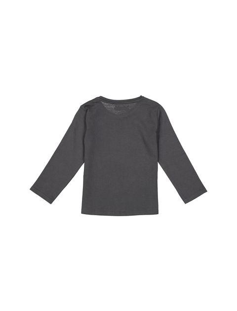 تی شرت نخی ساده نوزادی پسرانه - زغالي - 2