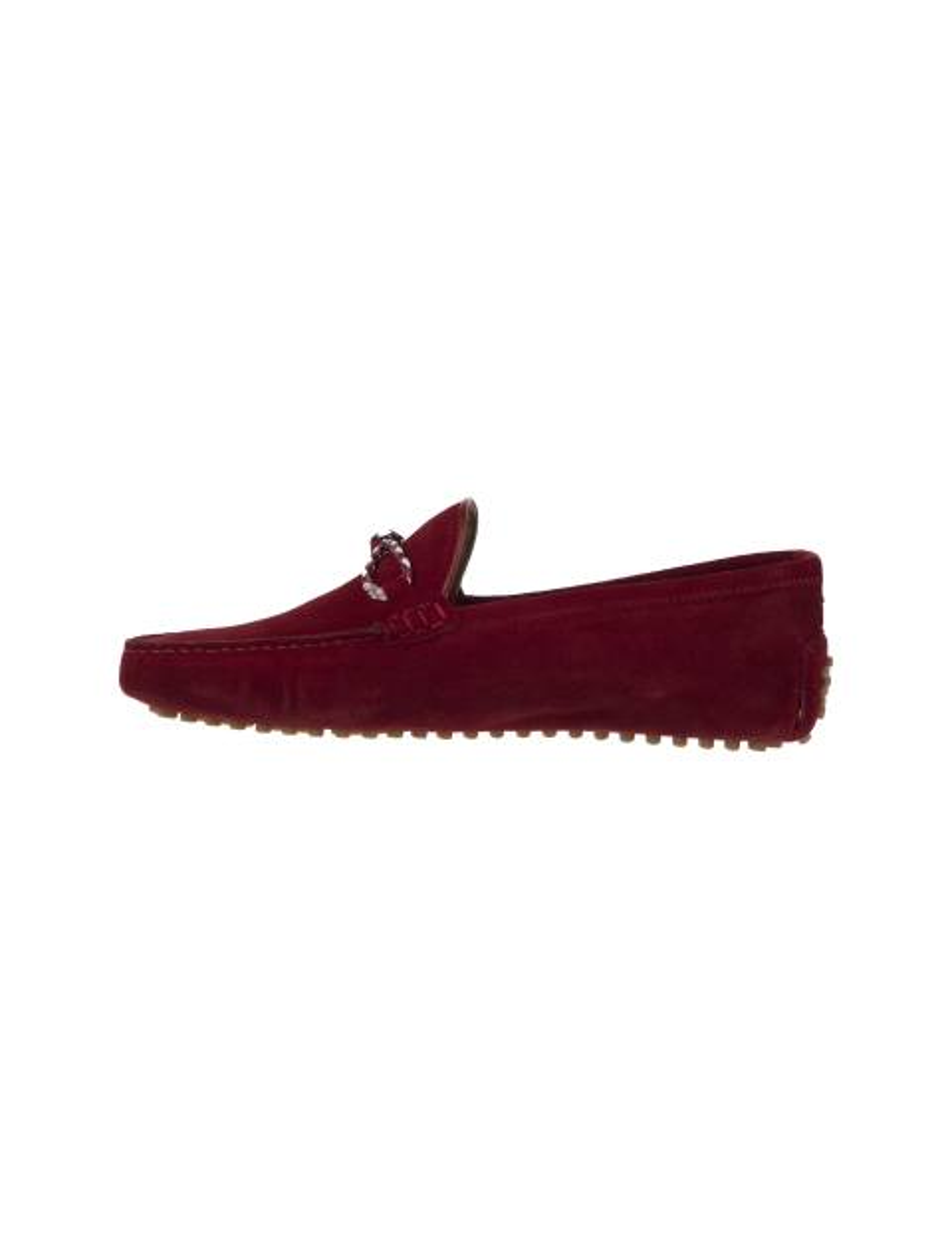 کفش چرم راحتی یکسره مردانه - قرمز - 2