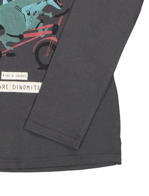 تی شرت نخی ساده نوزادی پسرانه - زغالي - 3