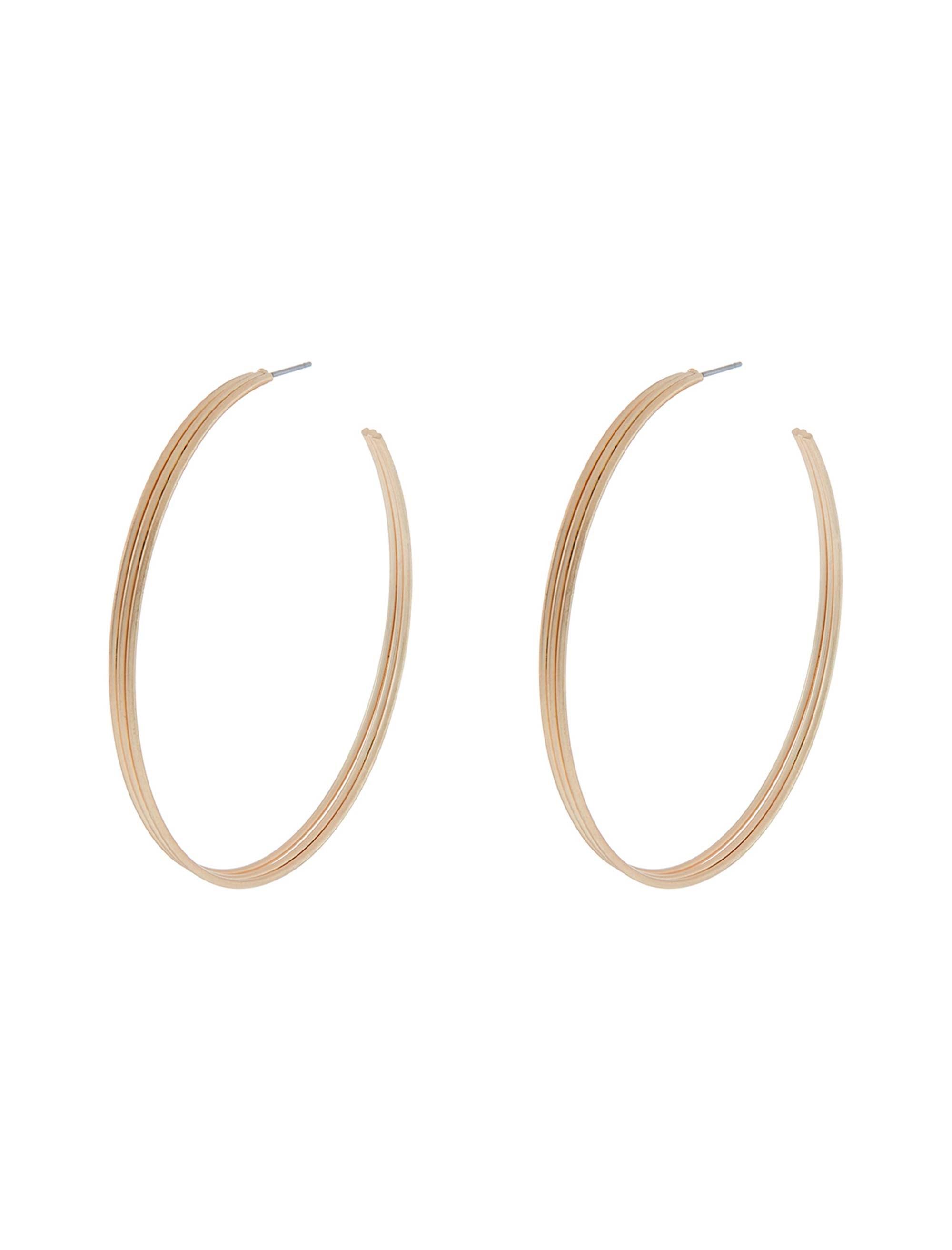 گوشواره استیل حلقهای زنانه Brushed Triple Hoop - اکسسورایز تک سایز