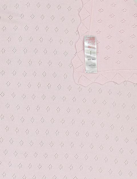 پتو طرح دار نوزادی - صورتي - 3