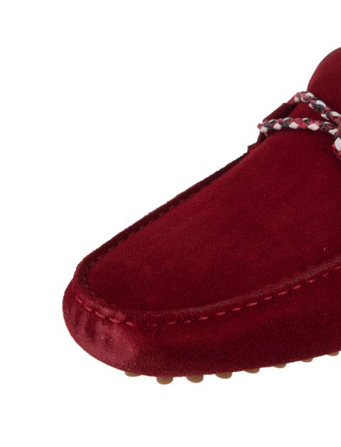 کفش چرم راحتی یکسره مردانه - قرمز - 6