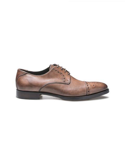 کفش رسمی چرم مردانه Alfonso - قهوه اي - 1