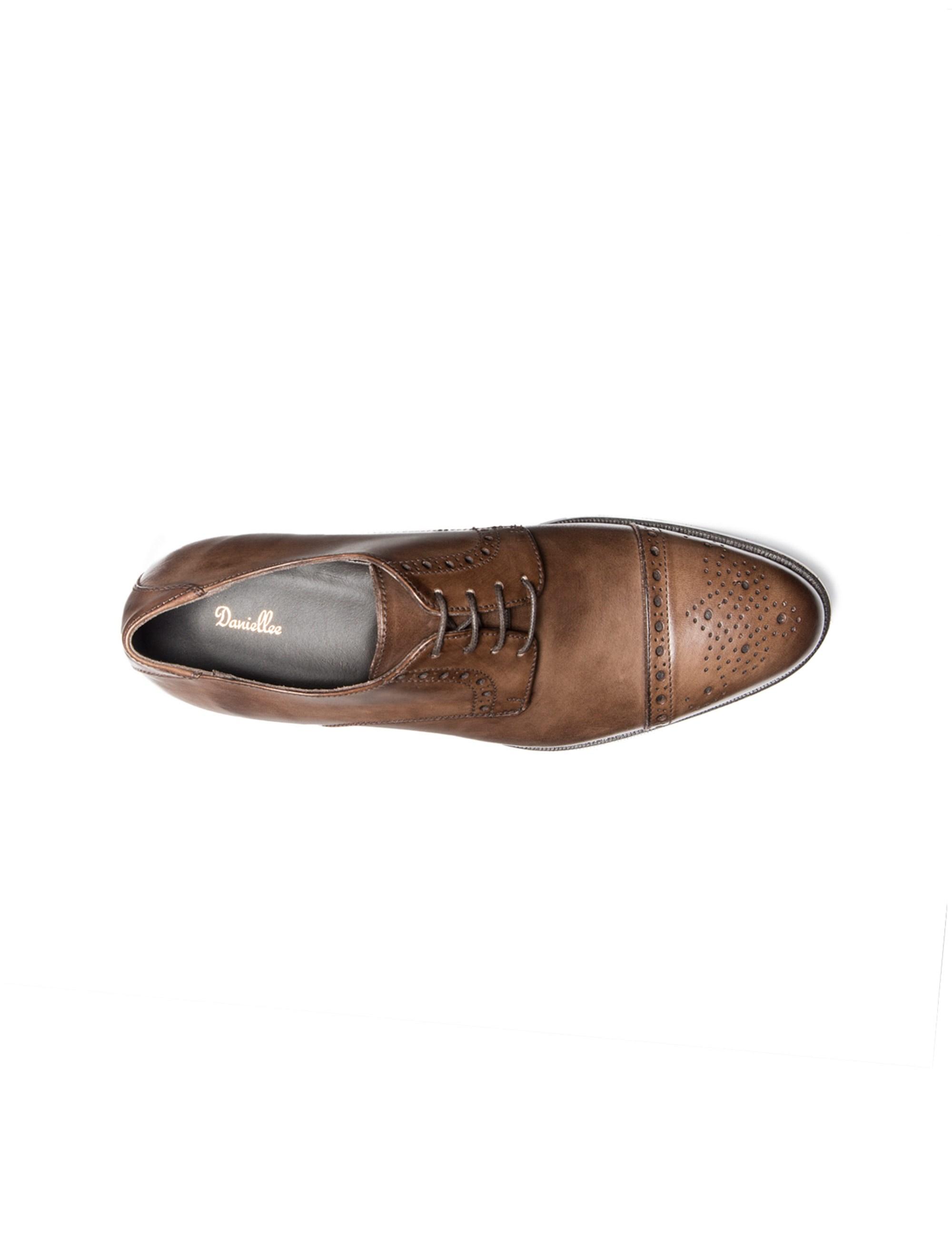 کفش رسمی چرم مردانه Alfonso - قهوه اي - 2