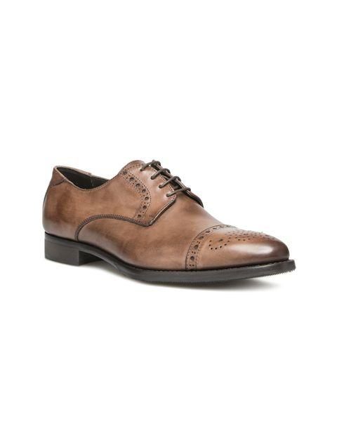 کفش رسمی چرم مردانه Alfonso - قهوه اي - 5