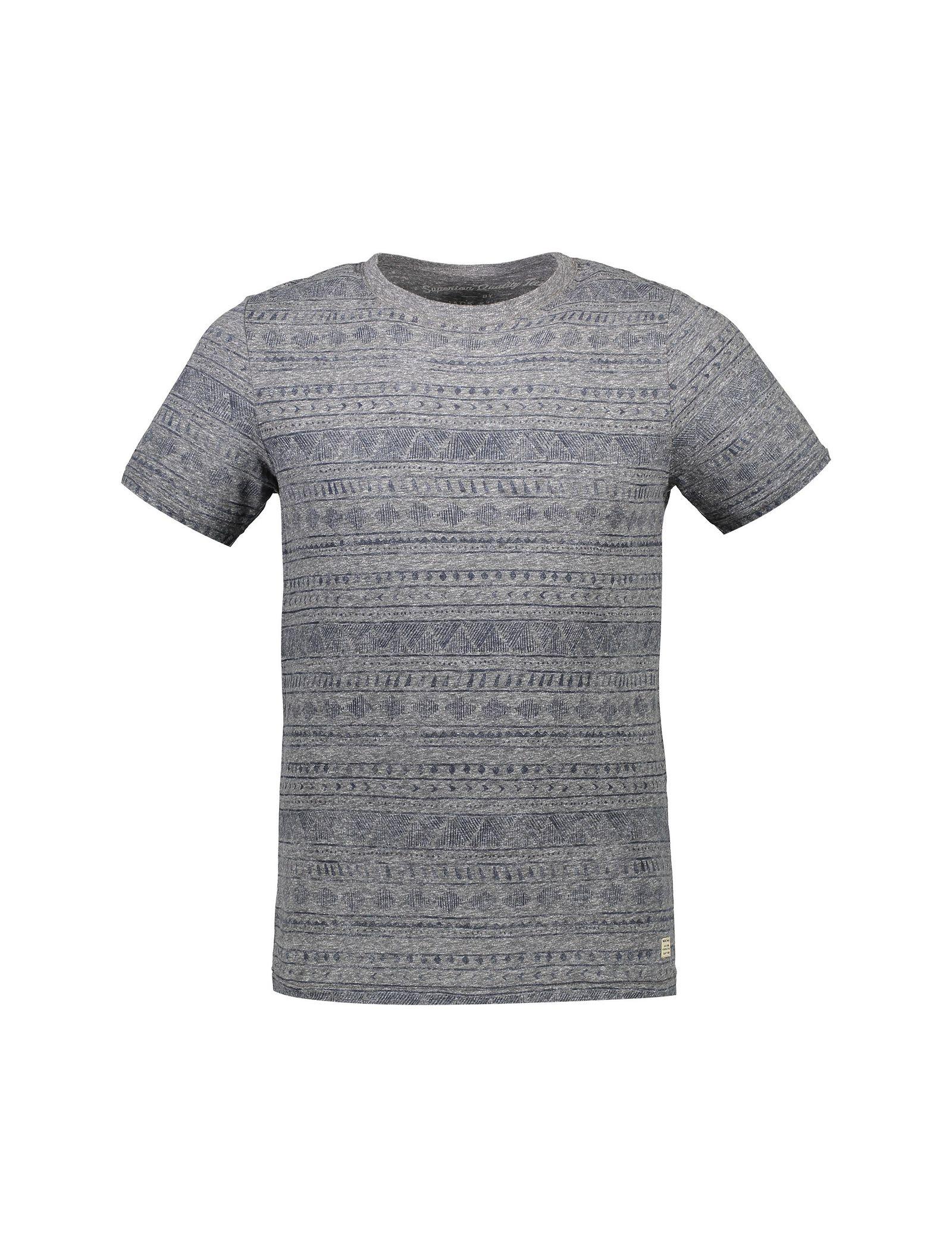 تی شرت نخی یقه گرد مردانه - جک اند جونز - طوسي - 1