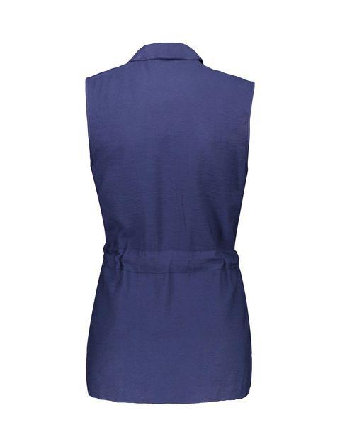 رویه لباس ویسکوز ساده زنانه - سرمه اي  - 4