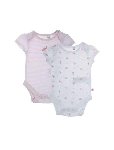 بادی نخی نوزادی دخترانه بسته دو عددی