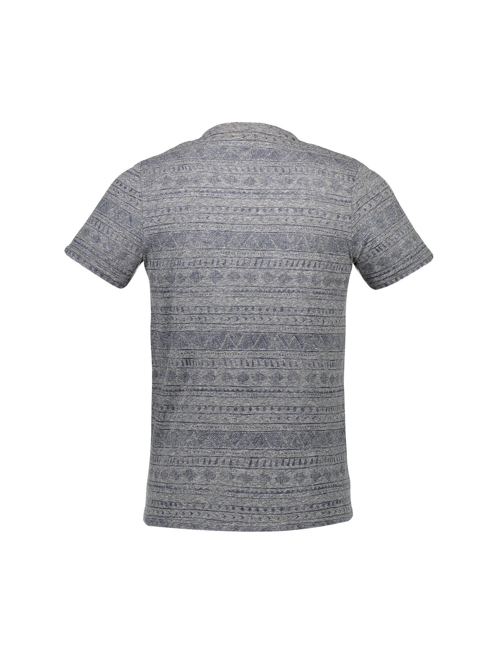 تی شرت نخی یقه گرد مردانه - جک اند جونز - طوسي - 2