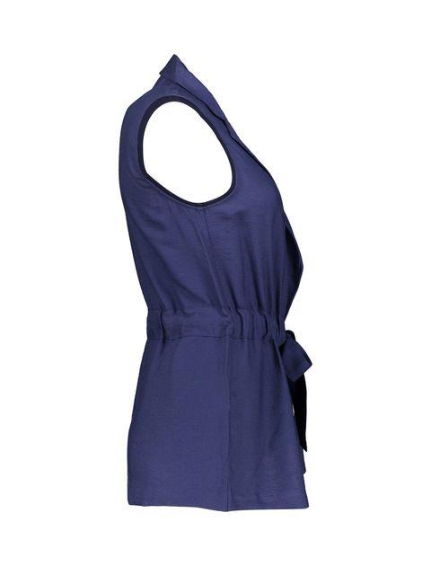 رویه لباس ویسکوز ساده زنانه - سرمه اي  - 6