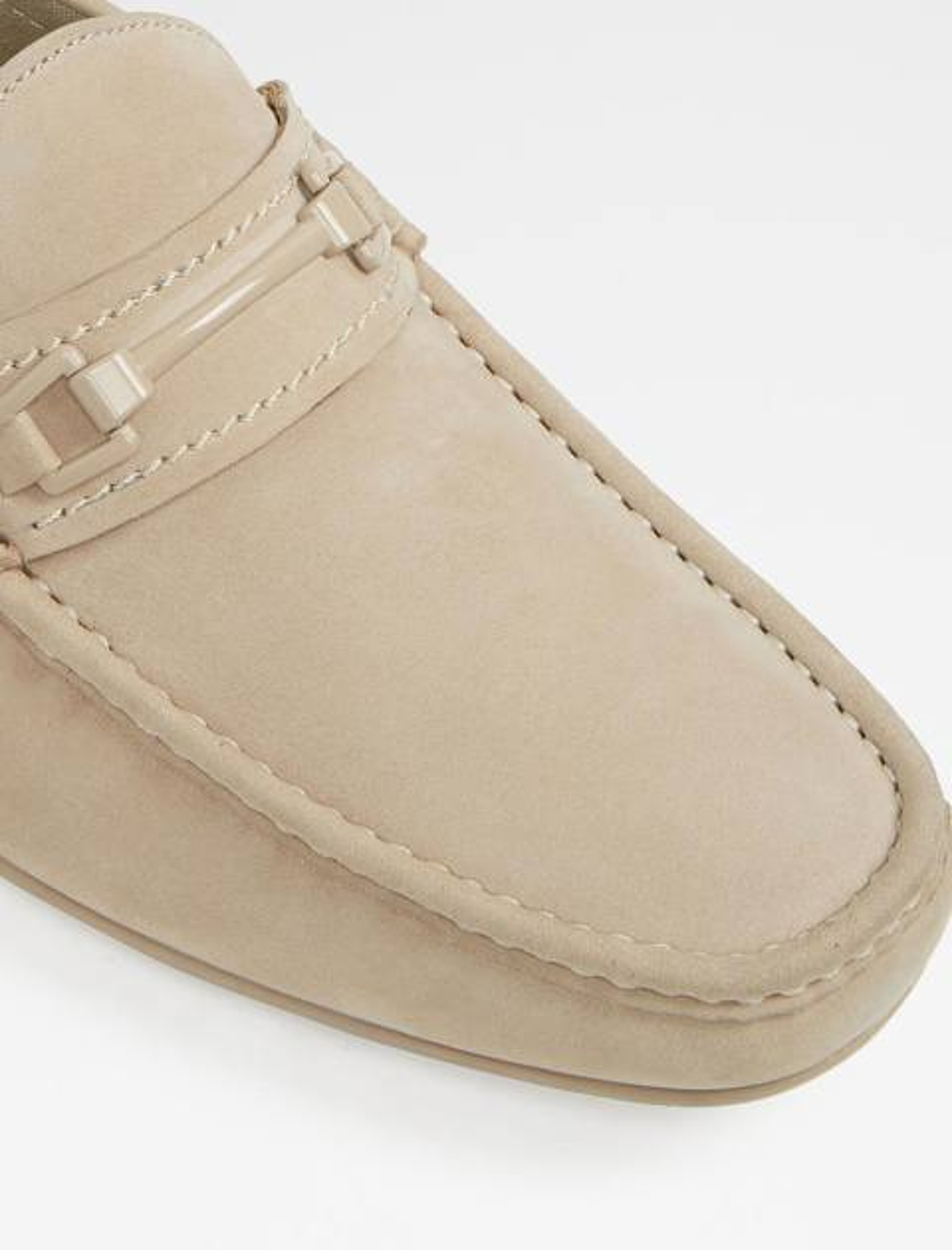 کفش چرم راحتی یکسره مردانه - کرم - 3