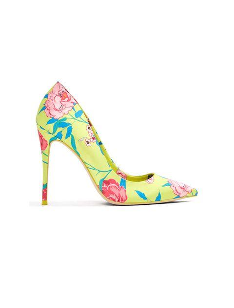 کفش پاشنه بلند زنانه - سبز فسفري - 1