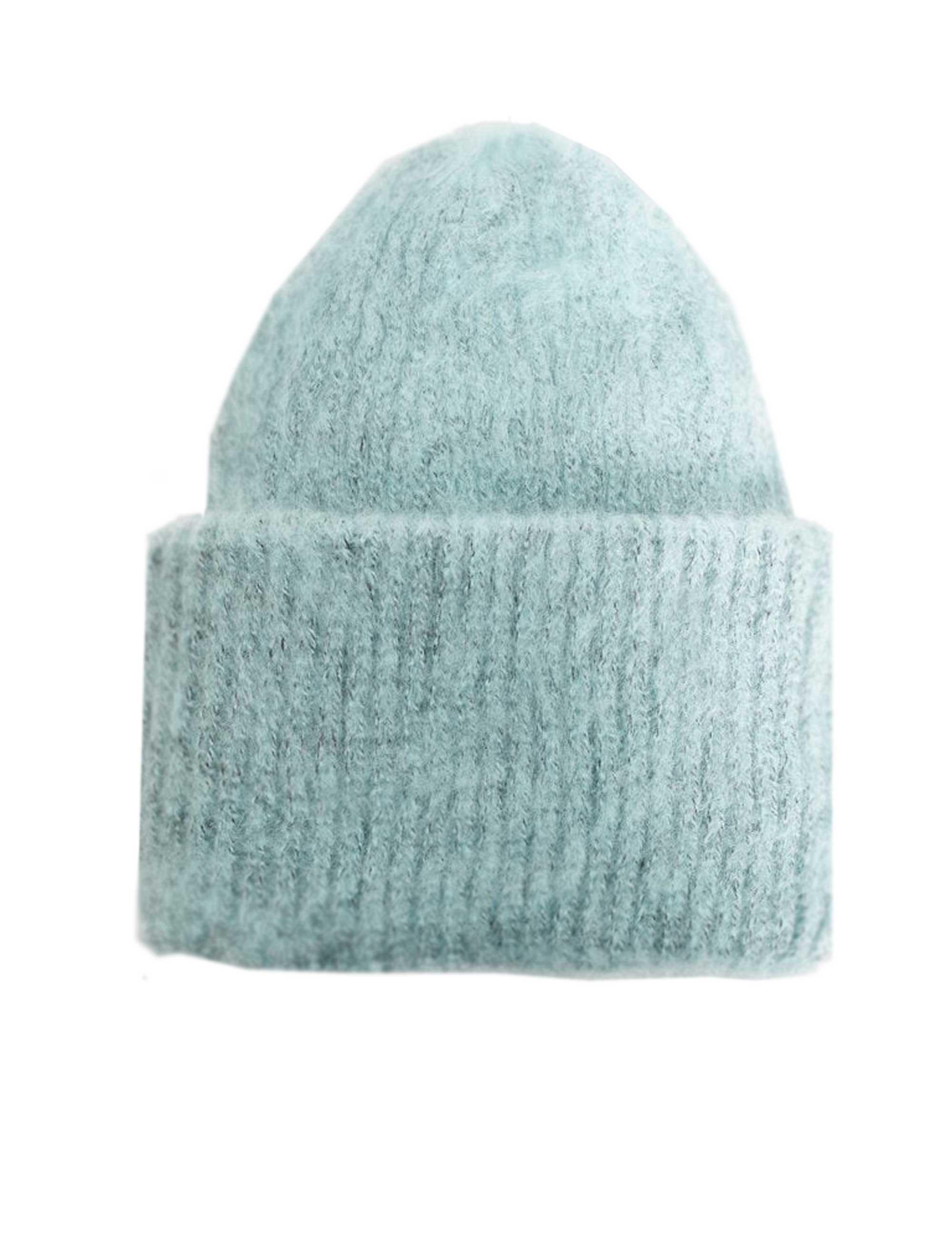 کلاه بافتنی زنانه - مانگو - سبز آبي روشن - 1