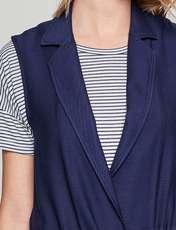 رویه لباس ویسکوز ساده زنانه - سرمه اي  - 8