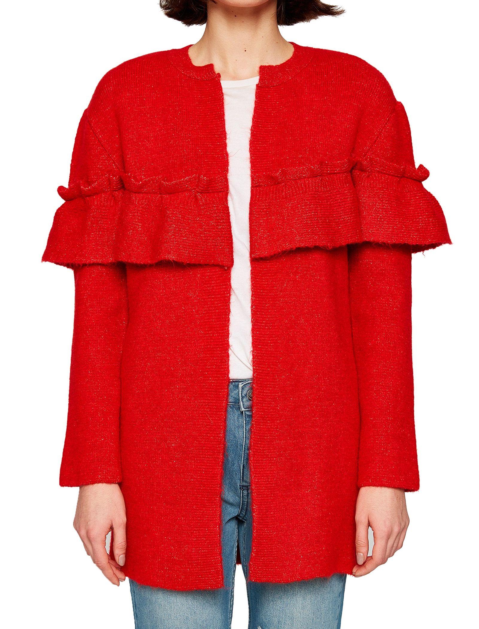 ژاکت جلو باز زنانه - کوتون - قرمز - 1