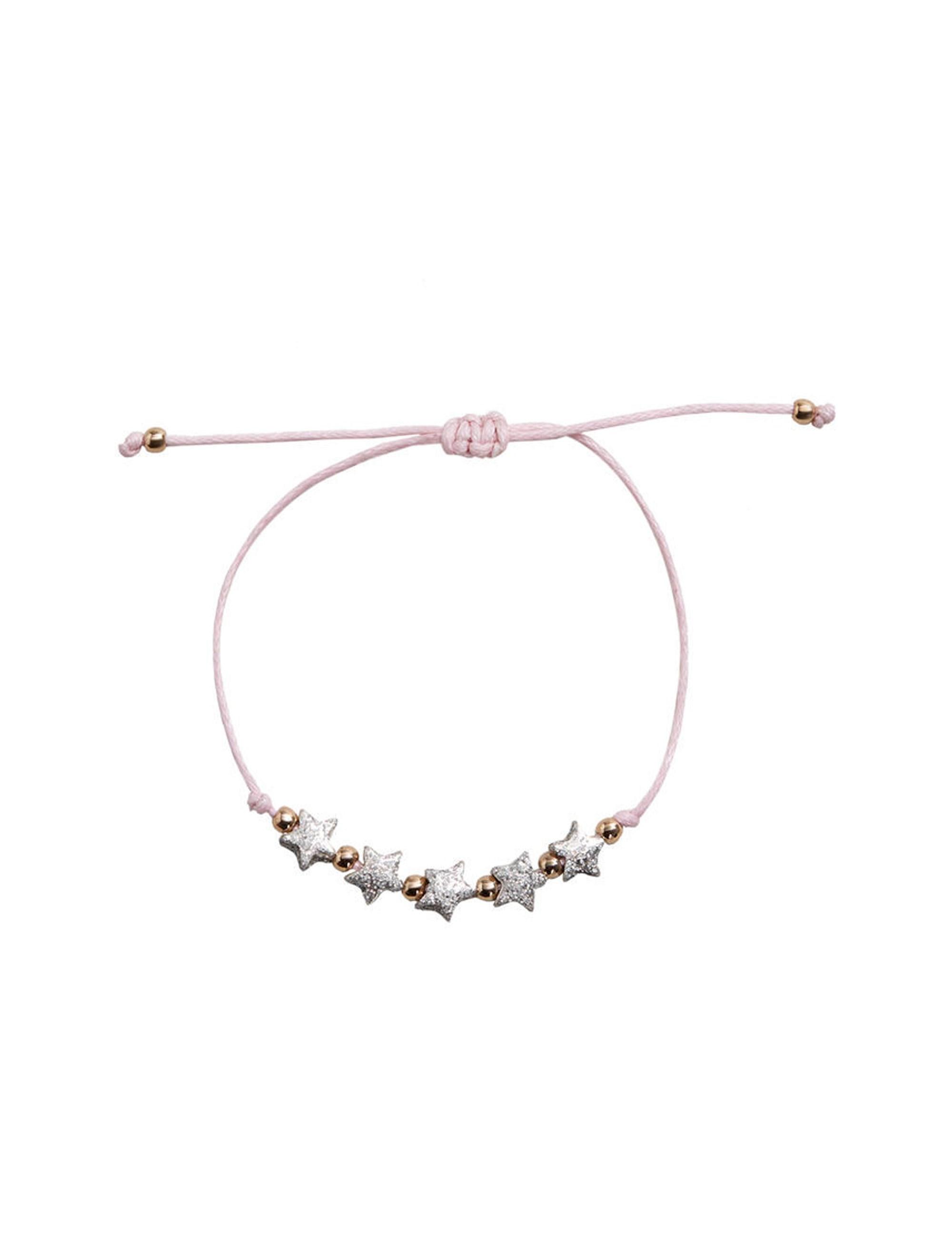دستبند مهره ای دخترانه - مانگو تک سایز