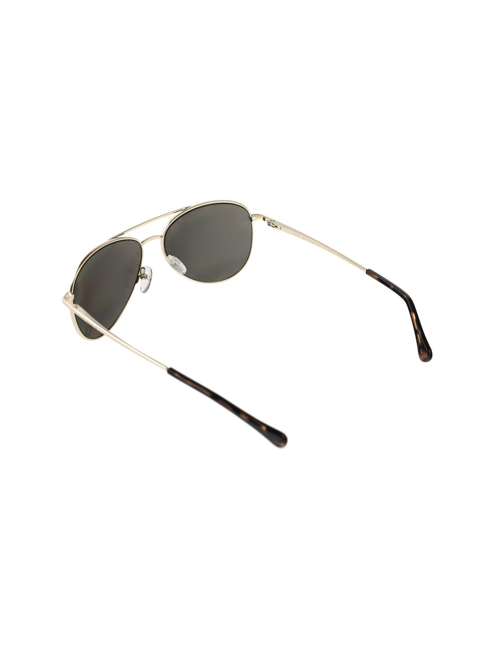 عینک آفتابی خلبانی زنانه - تد بیکر - طلايي    - 4