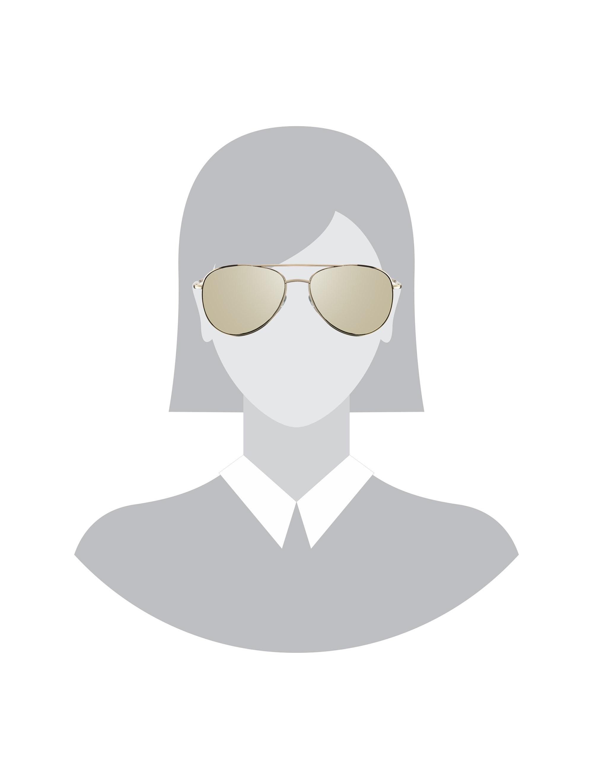 عینک آفتابی خلبانی زنانه - تد بیکر - طلايي    - 5