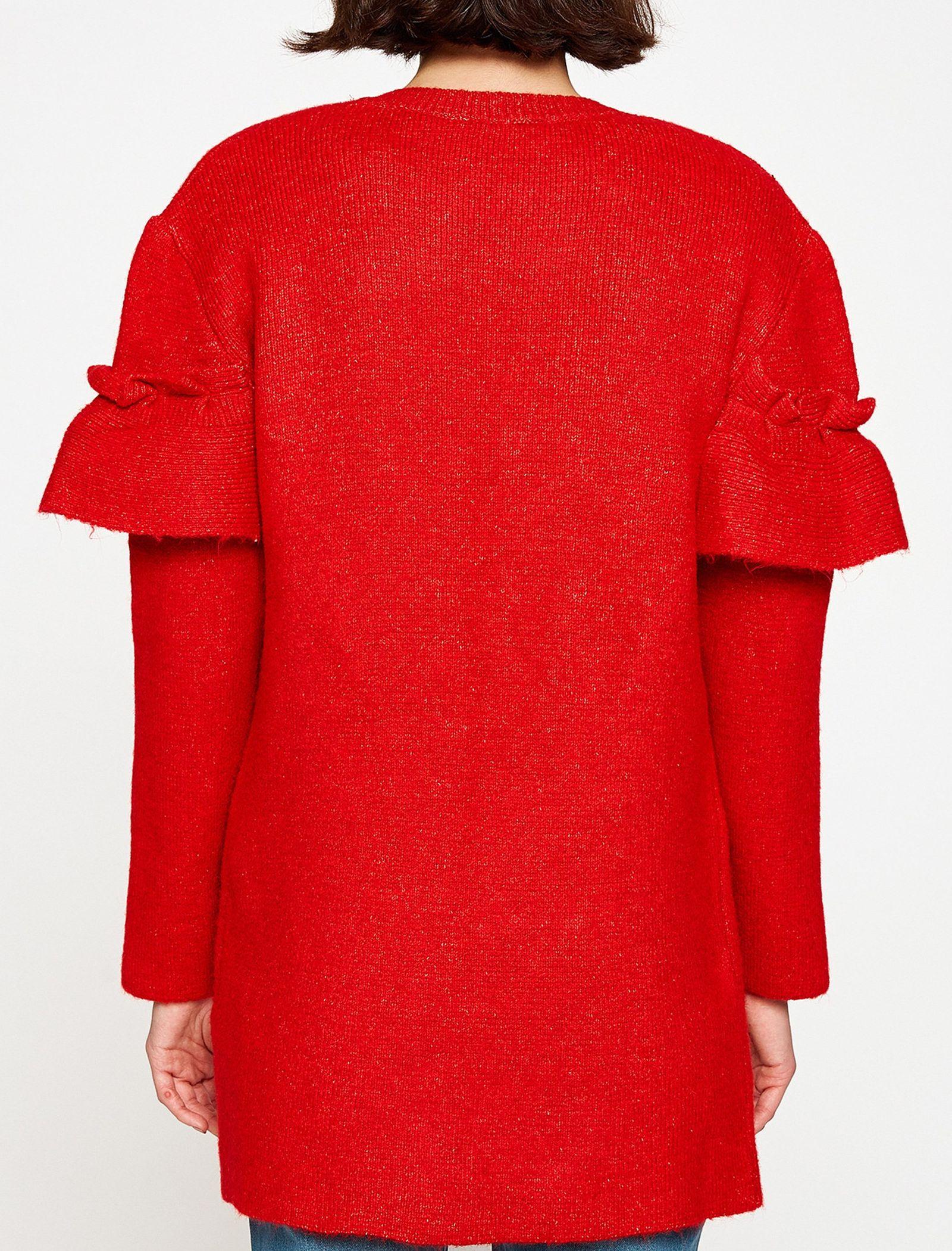 ژاکت جلو باز زنانه - کوتون - قرمز - 2