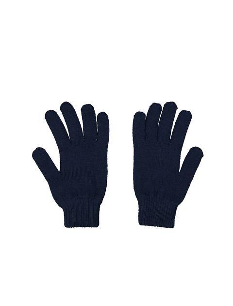دستکش بافت بزرگسال - سرمه اي - 3