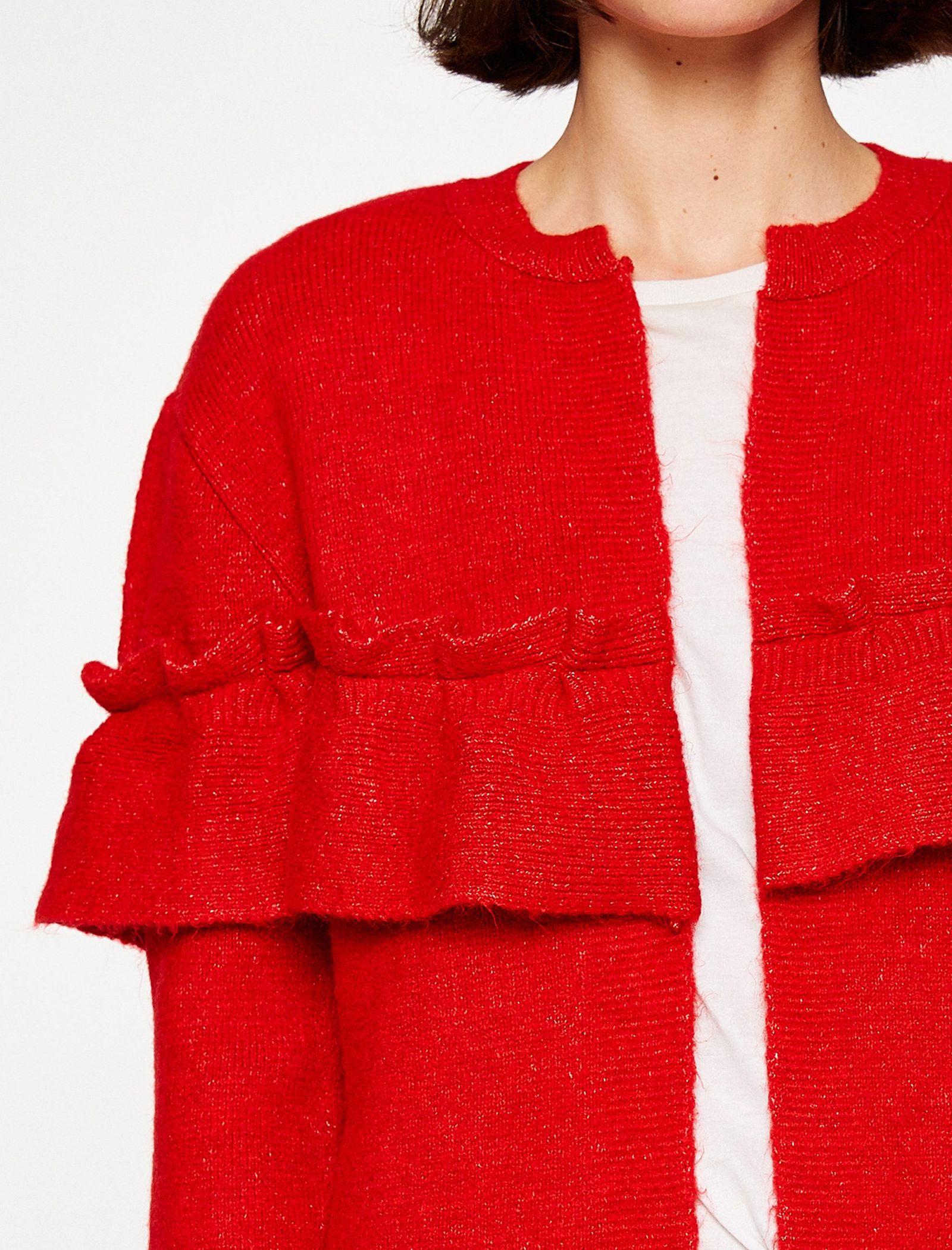 ژاکت جلو باز زنانه - کوتون - قرمز - 3