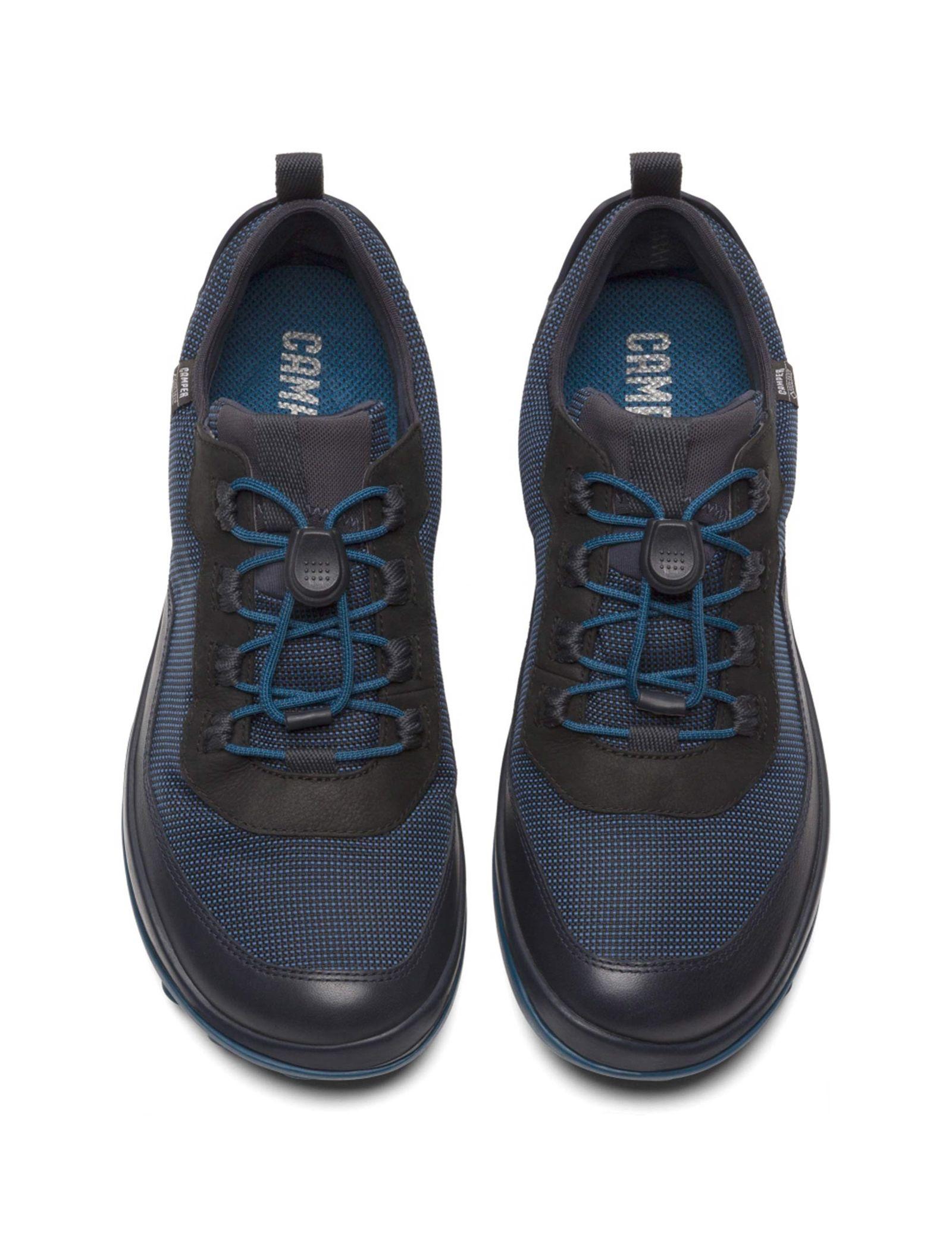 کفش طبیعت گردی بندی مردانه - کمپر - مشکي و سرمه اي - 3