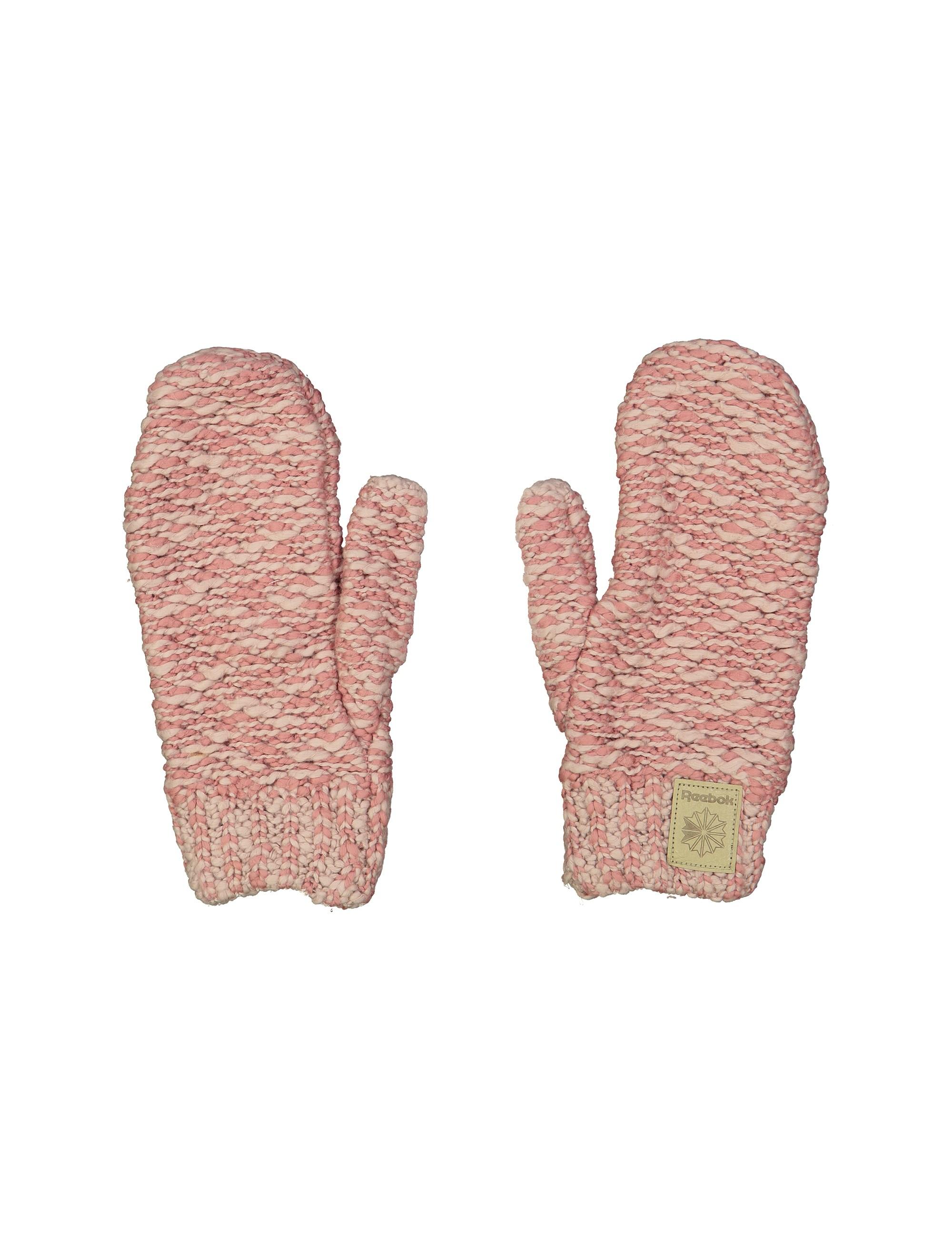 دستکش نخی بدون انگشت مردانه - صورتي و سفيد - 1