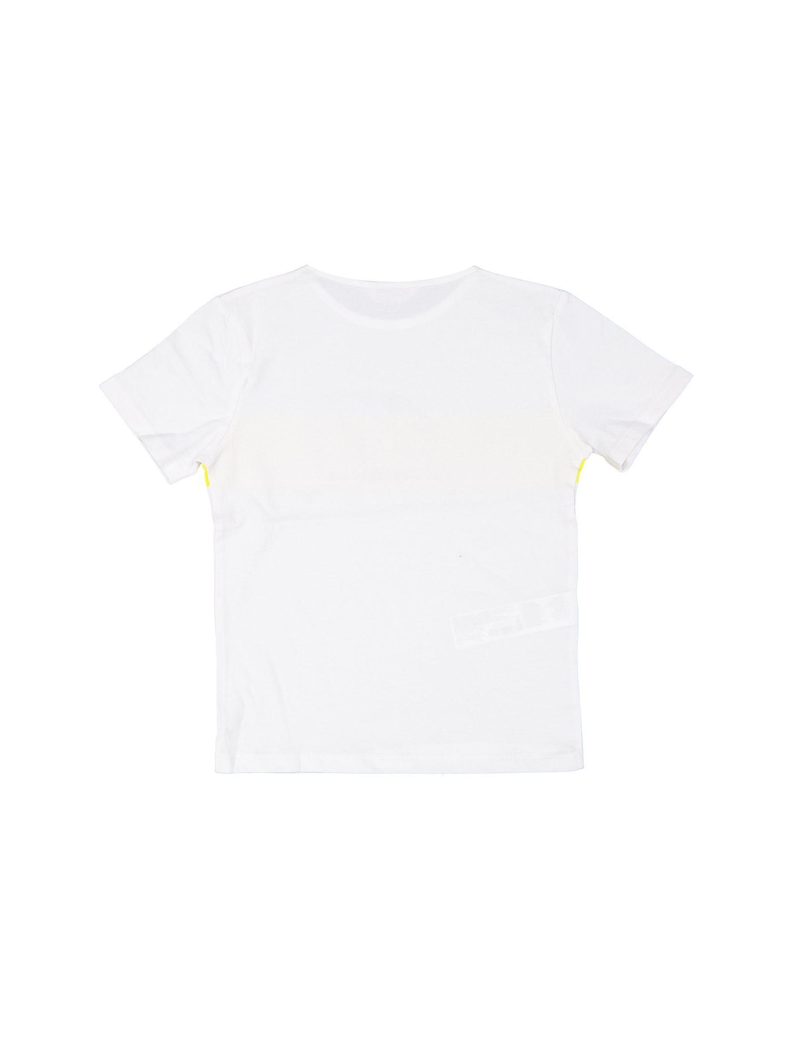 تی شرت نخی یقه گرد پسرانه - مانگو - سفيد - 3