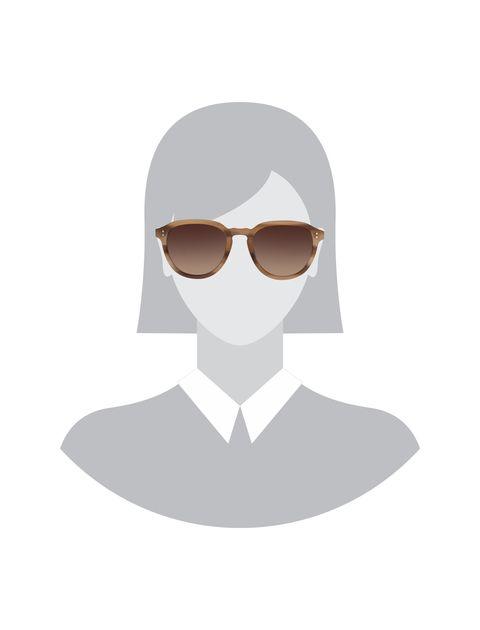 عینک آفتابی پنتوس زنانه - هکت - قهوه اي روشن - 4