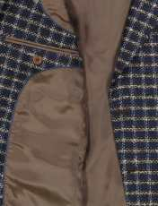 کت تک  غیر رسمی مردانه - زاگرس پوش - سرمه اي و قهوه اي - 4