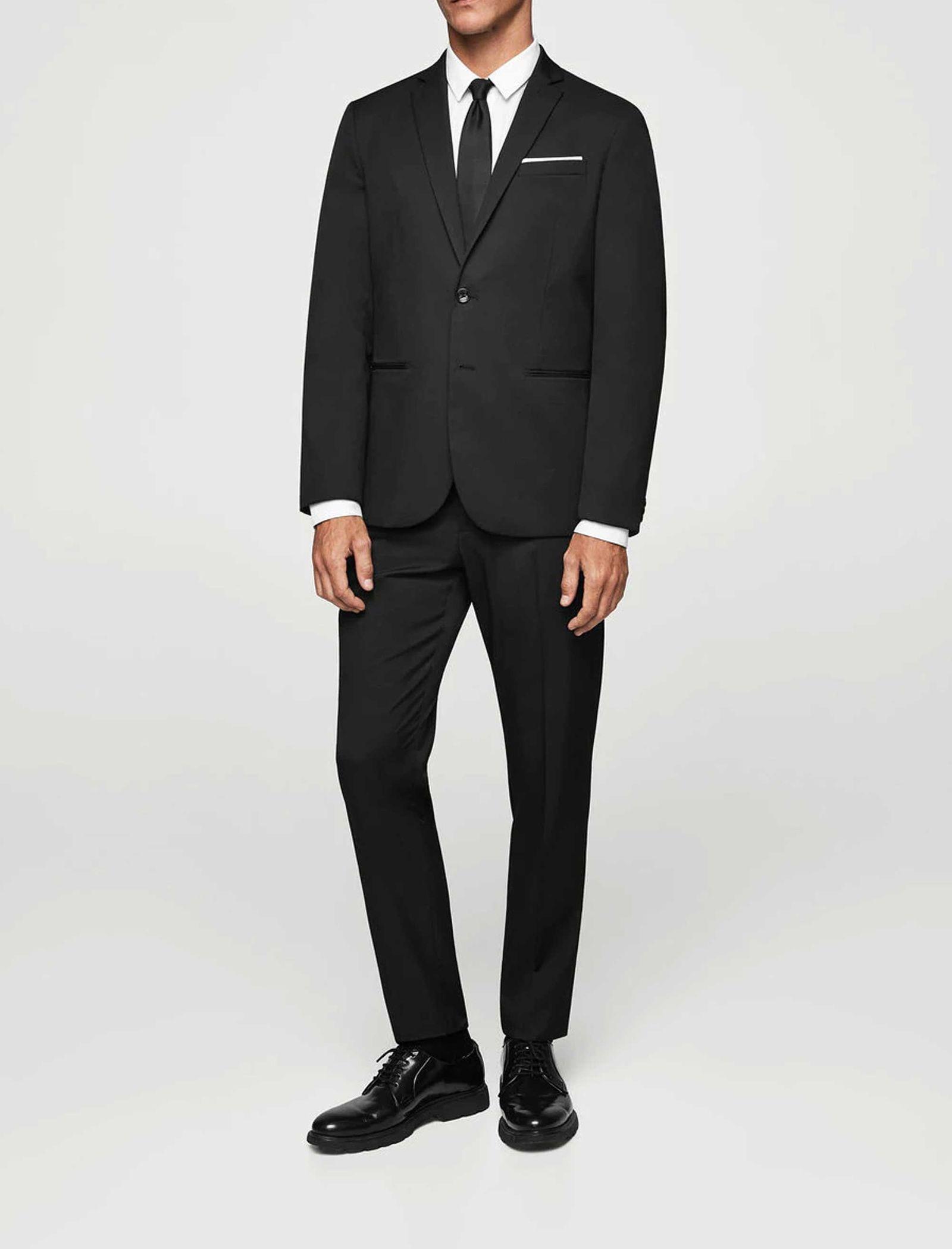 کت تک رسمی مردانه - مانگو - مشکي - 1