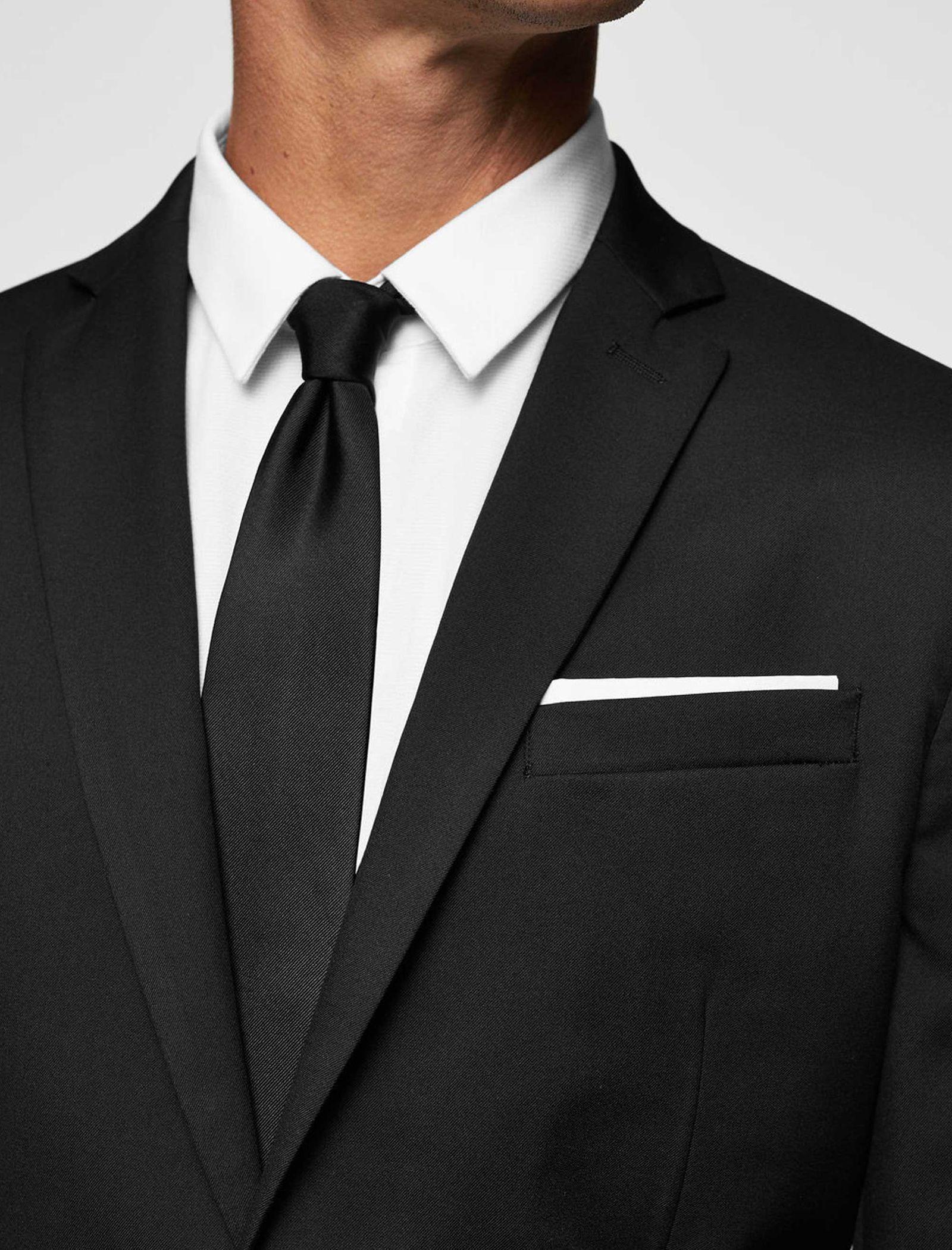 کت تک رسمی مردانه - مانگو - مشکي - 4